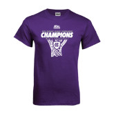 Purple T Shirt-2016 Patriot League Mens Champions Basketball