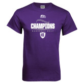 Purple T Shirt-2017 Patriot League Mens Champions Baseball
