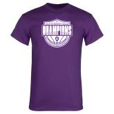 Purple T Shirt-2019 Football Champs