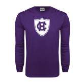 Purple Long Sleeve T Shirt-HC Shield