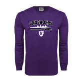 Purple Long Sleeve T Shirt-Rowing Design