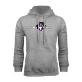 Grey Fleece Hood-Official Logo