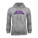 Grey Fleece Hood-Holy Cross Crusaders Arched