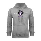 Grey Fleece Hood-Hockey