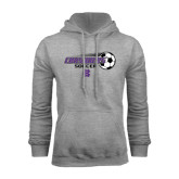 Grey Fleece Hood-Soccer w/ Flying Ball