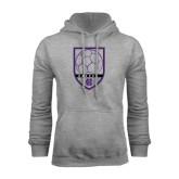 Grey Fleece Hood-Soccer Shield Design