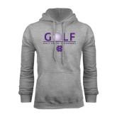 Grey Fleece Hoodie-Golf Ball Design