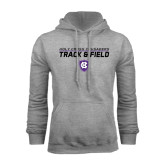 Grey Fleece Hoodie-Track and Field Design