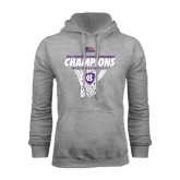 Grey Fleece Hood-2016 Patriot League Mens Champions Basketball