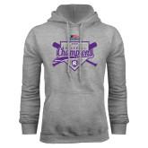 Grey Fleece Hoodie-2017 Patriot League Mens Champions Baseball