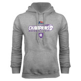 Grey Fleece Hoodie-2017 Patriot League Mens Champions Baseball