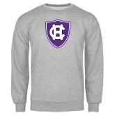 Grey Fleece Crew-HC Shield