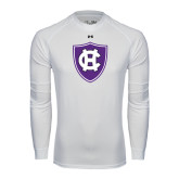 Under Armour White Long Sleeve Tech Tee-HC Shield