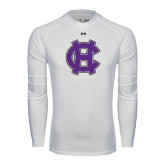 Under Armour White Long Sleeve Tech Tee-Interlocking HC