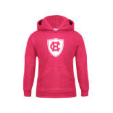 Youth Raspberry Fleece Hoodie-HC Shield
