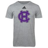 Adidas Sport Grey Logo T Shirt-Interlocking HC
