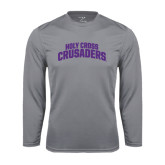 Performance Steel Longsleeve Shirt-Holy Cross Crusaders Arched