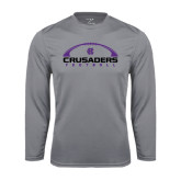 Performance Steel Longsleeve Shirt-Crusaders Football Horizontal