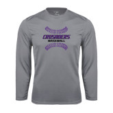 Performance Steel Longsleeve Shirt-Baseball Stitches