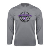 Performance Steel Longsleeve Shirt-Crusaders Basketball Arched w/ Ball