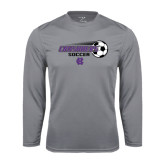 Syntrel Performance Steel Longsleeve Shirt-Soccer w/ Flying Ball