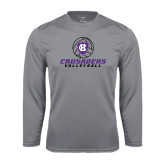 Performance Steel Longsleeve Shirt-Vollyball Ball Design