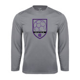 Syntrel Performance Steel Longsleeve Shirt-Soccer Shield Design