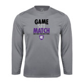 Performance Steel Longsleeve Shirt-Game Set Match - Tennis Design