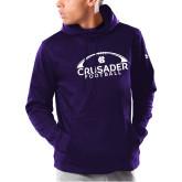Under Armour Purple Armour Fleece Hoodie-Football Arches