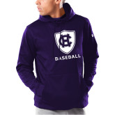 Under Armour Purple Armour Fleece Hoodie-Baseball