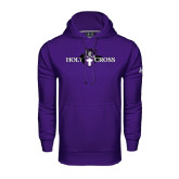 Under Armour Purple Performance Sweats Team Hood-Official Logo
