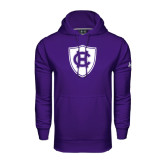 Under Armour Purple Performance Sweats Team Hood-HC Shield