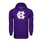 Under Armour Purple Performance Sweats Team Hood-Interlocking HC