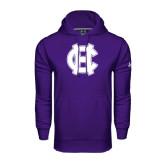 Under Armour Purple Performance Sweats Team Hoodie-Interlocking HC