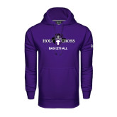 Under Armour Purple Performance Sweats Team Hood-Basketball