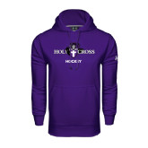 Under Armour Purple Performance Sweats Team Hood-Hockey
