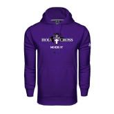 Under Armour Purple Performance Sweats Team Hoodie-Hockey