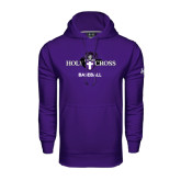 Under Armour Purple Performance Sweats Team Hood-Baseball