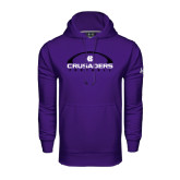 Under Armour Purple Performance Sweats Team Hood-Crusaders Football Horizontal