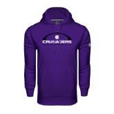 Under Armour Purple Performance Sweats Team Hoodie-Crusaders Football Horizontal