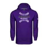 Under Armour Purple Performance Sweats Team Hoodie-Baseball Stitches