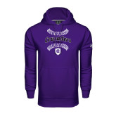 Under Armour Purple Performance Sweats Team Hood-Softball Stitches