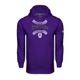 Under Armour Purple Performance Sweats Team Hoodie-Softball Stitches
