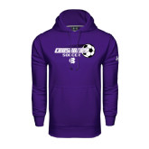 Under Armour Purple Performance Sweats Team Hoodie-Soccer w/ Flying Ball