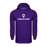 Under Armour Purple Performance Sweats Team Hoodie-Vollyball Ball Design