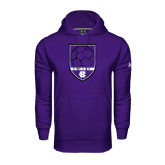 Under Armour Purple Performance Sweats Team Hoodie-Soccer Shield Design