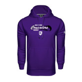 Under Armour Purple Performance Sweats Team Hood-Hockey Puck Design