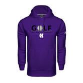 Under Armour Purple Performance Sweats Team Hoodie-Golf Ball Design