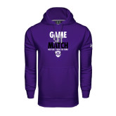 Under Armour Purple Performance Sweats Team Hood-Game Set Match - Tennis Design