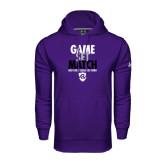 Under Armour Purple Performance Sweats Team Hoodie-Game Set Match - Tennis Design